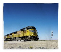 Caution Do Not Stop On Tracks Fleece Blanket