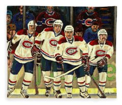 Hockey Art The Habs Fab Four Fleece Blanket