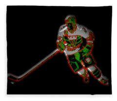 Hockey Player Fleece Blanket
