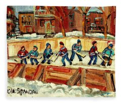 Hockey Rinks In Montreal Fleece Blanket