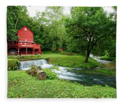 Hodgson Water Mill And Spring Fleece Blanket