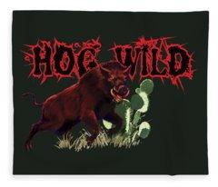 Hog Wild Tee Fleece Blanket