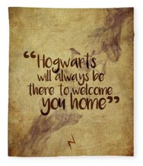 Hogwarts Is Home Fleece Blanket
