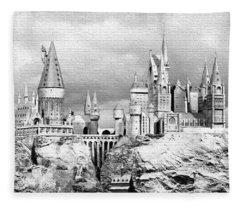 Hogwarts School Graffiti Fleece Blanket