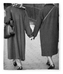 Holding Hands Friends Fleece Blanket
