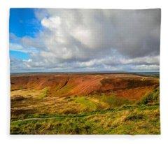 Hole Of Horcum, North York Mores, Yorkshire, United Kingdom Fleece Blanket