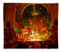 Holiday Decor In The Basilica Fleece Blanket