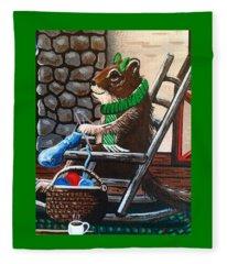 Holiday Knitting Fleece Blanket