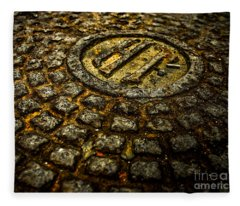 Holland Tunnel Manhole Fleece Blanket