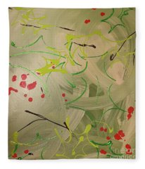 Holly And The Ivy Fleece Blanket