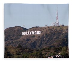 Hollywood And Helicopters Fleece Blanket
