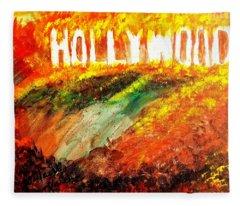 Hollywood Burning Fleece Blanket
