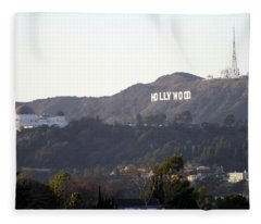 Hollywood Hills And Griffith Observatory Fleece Blanket