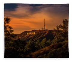 Hollywood Sunset Fleece Blanket