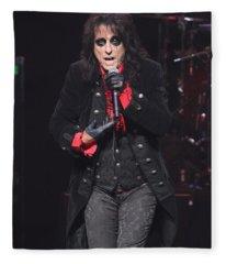 Hollywood Vampires Alice Cooper Fleece Blanket