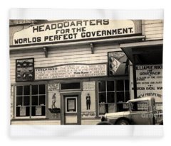 Holy City World Government Santa Clara County California 1938 Fleece Blanket