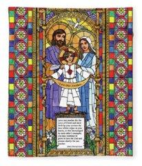 Holy Family Fleece Blanket