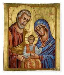 Holy Family - Jchfl Fleece Blanket