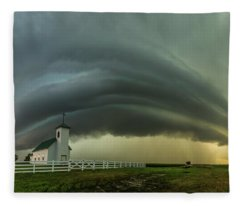 Holy Supercell  Fleece Blanket