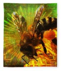 Homage To A Bee 2015 Fleece Blanket