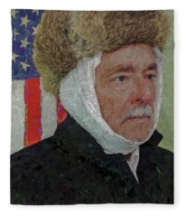 Homage To Van Gogh Selfie Fleece Blanket