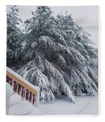 Home For The Blizzard Fleece Blanket