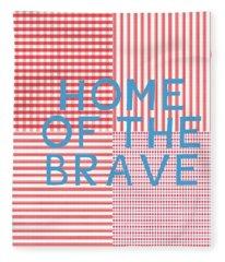Home Of The Brave- Art By Linda Woods Fleece Blanket