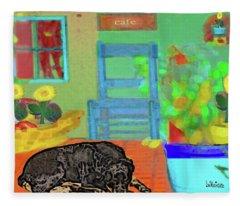 Home Sweet Home Painting 4 Fleece Blanket