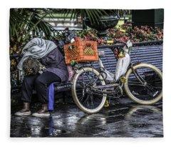 Homeless In New Orleans, Louisiana Fleece Blanket