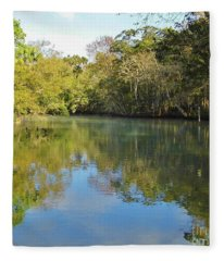 Homosassa River Fleece Blanket