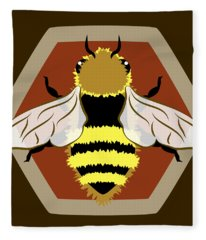 Honey Bee Graphic Fleece Blanket