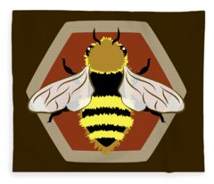 Honey Bee Graphic Fleece Blanket
