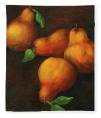 Honey Pears Fleece Blanket