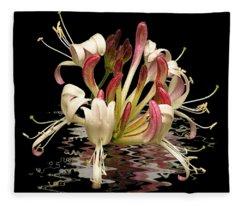 Honeysuckle Reflections Fleece Blanket