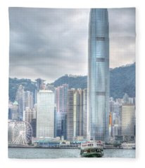 Hong Kong China 2 Fleece Blanket