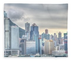 Hong Kong China Fleece Blanket