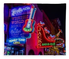 Honky Tonk Broadway Fleece Blanket