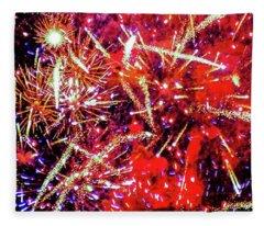 Honolulu Fireworks Fleece Blanket