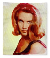 Honor Blackman, Movie Star Fleece Blanket