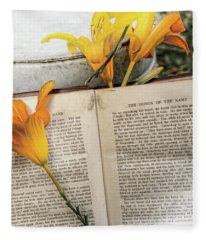 Honor Of Name Lily Fleece Blanket