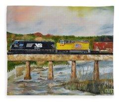 Hooch - Chattahoochee River - Columbus Ga Fleece Blanket
