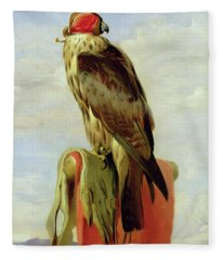Hooded Falcon Fleece Blanket