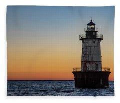 Hoopers Island Sunset Fleece Blanket