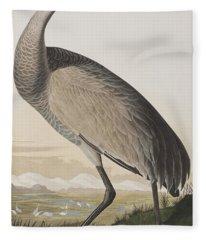 Hooping Crane Fleece Blanket