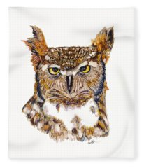 Hoot Fleece Blanket
