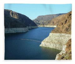 Hoover Dam In May Fleece Blanket