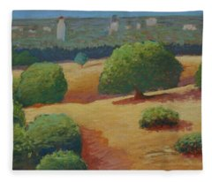 Hoover Tower In Sight Fleece Blanket