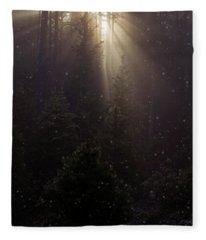 Hope And Faith - Winter Art Fleece Blanket