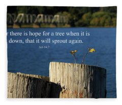 Hope For A Tree Fleece Blanket