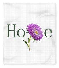 Hope Shirt Fleece Blanket